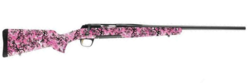 "Browning 035327218 X-Bolt Micro Bolt Action Rifle .308 Win 20"" Sporter Barrel 4 Rounds Buckthorn Pink Composite Stock Matte Blued"