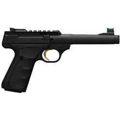 "Browning 051534490 Buck Mark Plus Camper UFX Single 22 Long Rifle (LR) 6"" TB 10+1 Black Ultragrip FX Grip Blued"