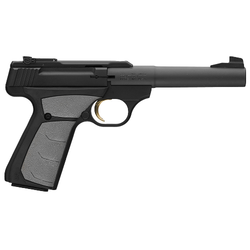 "Browning 051498490 Buck Mark Camper UFX Single 22 Long Rifle (LR) 5.5"" 10+1 Gray Ultragrip FX Grip Black"