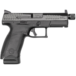 "CZ 91523 P-10 C Suppressor-Ready Double 9mm Luger 4.61"" TB 15+1 NS Black Interchangeable Backstrap Grip/Frame Black Nitride"