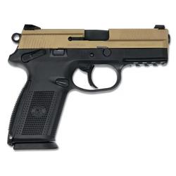"FN 66670 FNX 9 Single/Double 9mm Luger 4"" 17+1 Black Interchangeable Backstrap Grip Flat Dark Earth Stainless Steel"