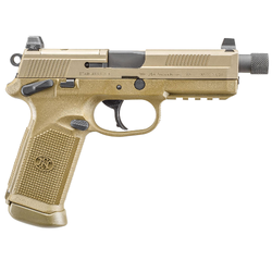 "FN 66968 FNX 45 Tactical Single/Double 45 Automatic Colt Pistol (ACP) 5.3"" TB 15+1 3 Mags NS Flat Dark Earth Interchangeable Backstrap Grip Flat Dark Earth Stainless Steel"