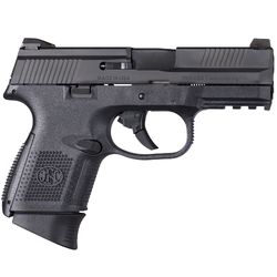 "FN 66719 FNS 9 Compact Double 9mm Luger 3.6"" 17+1 Black Polymer Grip Black Stainless Steel"