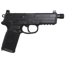 "FN 66966 FNX 45 Tactical Single/Double 45 Automatic Colt Pistol (ACP) 5.3"" TB 15+1 3 Mags NS Black Interchangeable Backstrap Grip Black Stainless Steel"