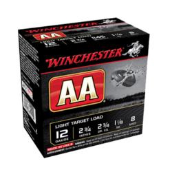 """Winchester Ammo AA128 AA Target Loads 12 Gauge 2.75"""" 1-1/8 oz 8 Shot 25 Bx/10 Cs"""