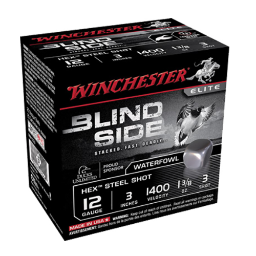 "Winchester Ammo SBS1233 Blindside 12 Gauge 3"" 1-3/8 oz 3 Shot 25 Bx/ 10 Cs"