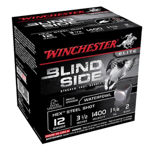"""Winchester Ammo SBS12L2 Blindside 12 Gauge 3.5"""" 1-5/8 oz 2 Shot 25 Bx/ 10 Cs"""
