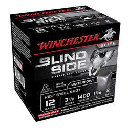 "Winchester Ammo SBS12L2 Blindside 12 Gauge 3.5"" 1-5/8 oz 2 Shot 25 Bx/ 10 Cs"