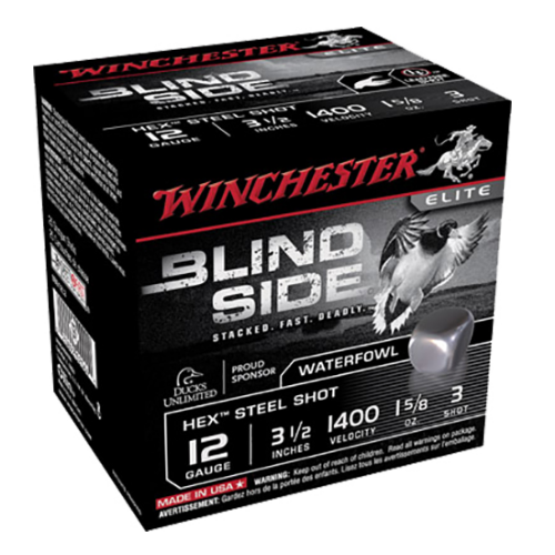"Winchester Ammo SBS12L3 Blindside 12 Gauge 3.5"" 1-5/8 oz 3 Shot 25 Bx/10 Cs"