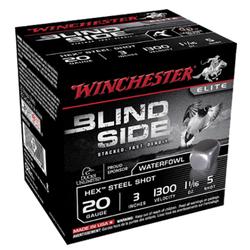 "Winchester Ammo SBS2035 Blindside 20 Gauge 3"" 1-1/16 oz 5 Shot 25 Bx/ 10 Cs"