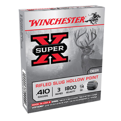 "Winchester Ammo X413RS5 Super-X 410 Gauge 3"" 1/4 oz Slug Shot 5 Bx/ 50 Cs"