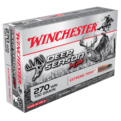 Winchester Ammo X270DS Deer Season XP 270 Winchester 130 GR Extreme Point 20 Bx/ 10 Cs