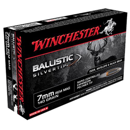 Winchester Ammo SBST7A Supreme 7mm Remington Magnum 140 GR Ballistic Silvertip 20 Bx/ 10 Cs