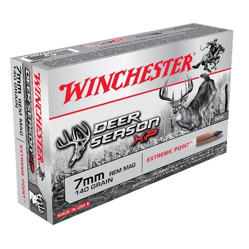 Winchester Ammo X7DS Deer Season XP 7mm Remington Magnum 140 GR Extreme Point 20 Bx/ 10 Cs