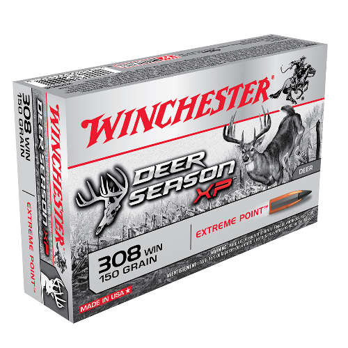 Winchester Ammo X308DS Deer Season XP 308 Winchester/7.62 NATO 150 GR Extreme Point 20 Bx/ 10 Cs