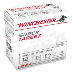 """Winchester Ammo TRGTL128 Super Target 12 Gauge 2.75"""" 1 oz 8 Shot 25 Bx/ 10"""