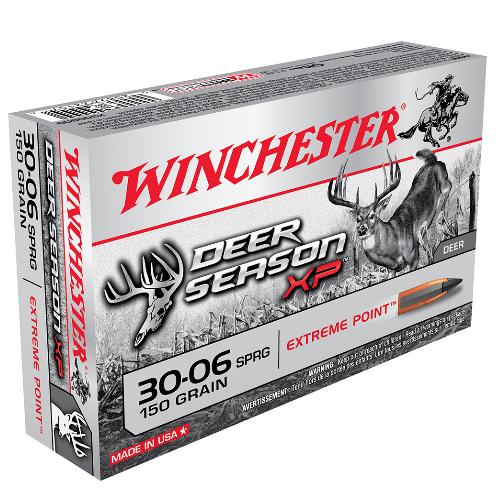 Winchester Ammo X3006DS Deer Season XP 30-06 Springfield 150 GR Extreme Point 20 Bx/ 10 Cs