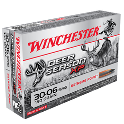 Winchester Ammo X3006DS Deer Season XP 30-06 Springfield 150 GR Extreme Point 20 Bx/ 10 Cs