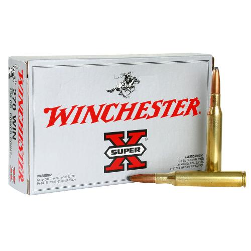 Winchester Ammo X2705 Super-X 270 Winchester 130 GR Power-Point 20 Bx/ 10 Cs