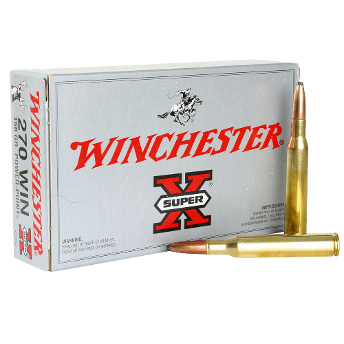 Winchester Ammo X2704 Super-X 270 Winchester 150 GR Power-Point 20 Bx/10 Cs