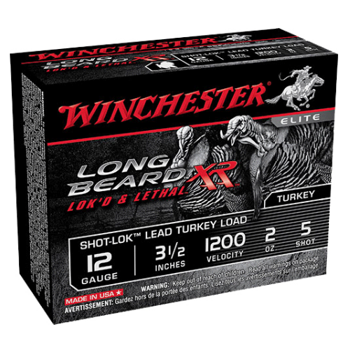 "Winchester Ammo STLB12L5 Long Beard XR Shot-Lok Turkey 12 Gauge 3.5"" 2 oz 5 Shot 10 Bx/ 10 Cs"