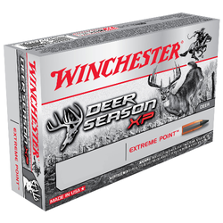 Winchester Ammo X65DS Deer Season XP 6.5 Creedmoor 125 GR Extreme Point 20 Bx/ 10 Cs