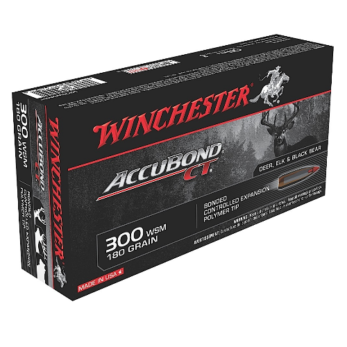 Winchester Ammo S300WSMCT Supreme 300 Winchester Short Magnum 180 GR AccuBond CT 20 Bx/ 10 Cs