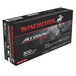 Winchester Ammo S300WSMCT Supreme 300 Winchester Short Magnum 180 GR AccuBond CT 20 Bx/ 10 Cs