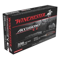 Winchester Ammo S338CT Supreme 338 Winchester Magnum 225 GR AccuBond CT 20 Bx/ 10 Cs