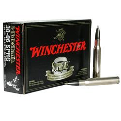 Winchester Ammo SBST3006A Supreme 30-06 Springfield 168 GR Ballistic Silvertip 20 Bx/ 10 Cs