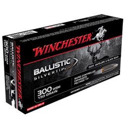 Winchester Ammo SBST300S Supreme 300 Winchester Short Magnum 150 GR Ballistic Silvertip 20 Bx/ 10 Cs