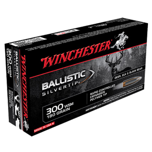 Winchester Ammo SBST300SA Supreme 300 Winchester Short Magnum 180 GR Ballistic Silvertip 20 Bx/ 10 Cs