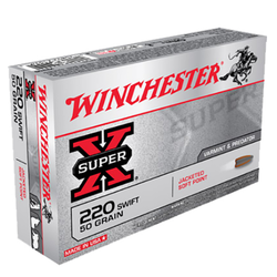 Winchester Ammo X220S Super-X 220 Swift 50 GR Pointed Soft Point 20 Bx/ 10 Cs