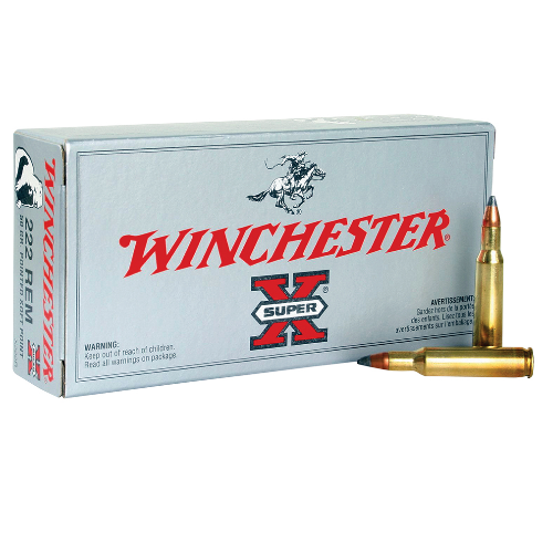 Winchester Ammo X222R Super-X 222 Remington 50 GR Pointed Soft Point 20 Bx/ 10 Cs