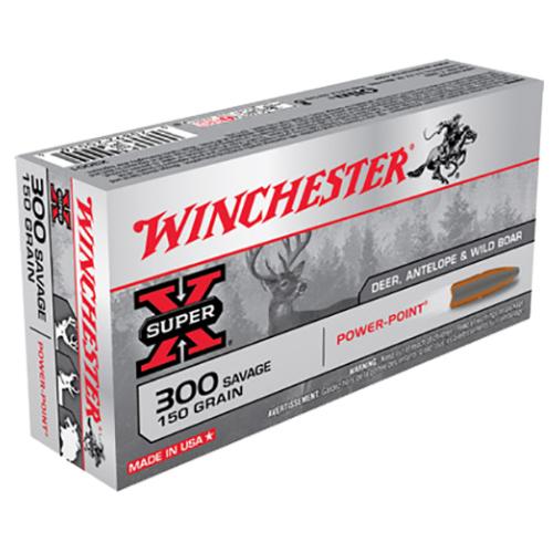 Winchester Ammo X3001 Super-X 300 Savage 150 GR Power-Point 20 Bx/ 10 Cs