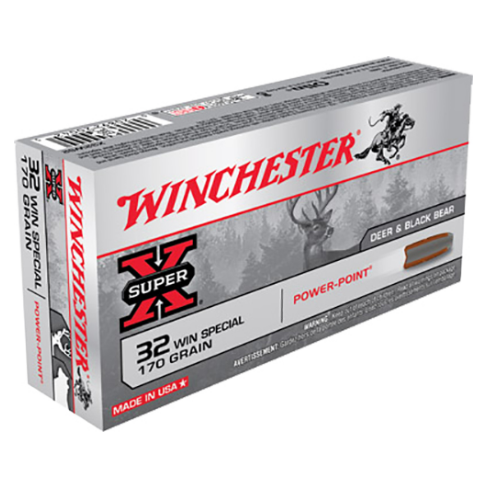 Winchester Ammo X32WS2 Super-X 32 Winchester Special 170 GR Power-Point 20 Bx/10 Cs
