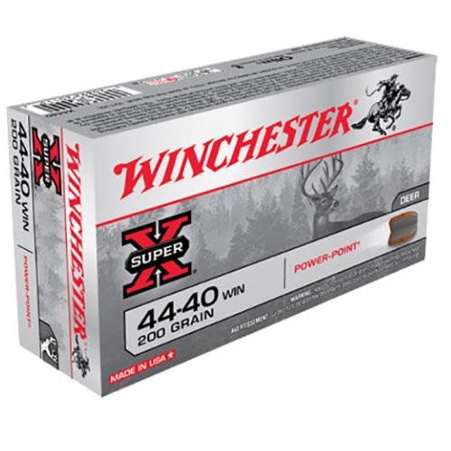 Winchester Ammo X4440 Super-X 44-40 Winchester 200 GR Soft Point 50 Bx/ 10 Cs