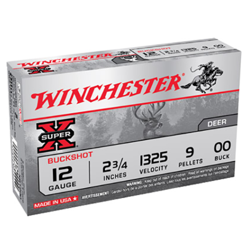 "Winchester Ammo XB1200 Super-X 12 Gauge 2.75"" Copper-Plated Lead 9 Pellets 00 Buck 5 Bx/ 50 Cs"