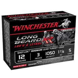 """Winchester Ammo STLB123M5 Long Beard XR 12 Gauge 3"""" 1-7/8 oz 5 Shot 10 Bx/ 10 Cs"""