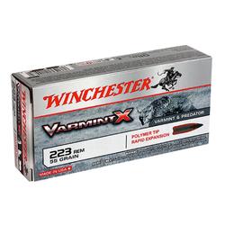 Winchester Ammo X223P Super-X 223 Remington/5.56 NATO 55 GR Varmint 20 Bx/ 10 Cs