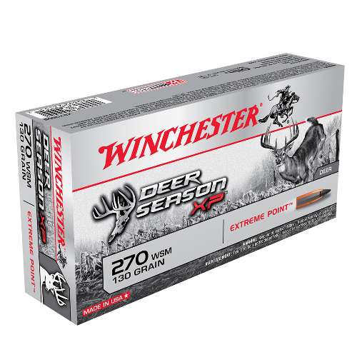 Winchester Ammo X270SDS Deer Season XP 270 Winchester Short Magnum 130 GR Extreme Point 20 Bx/ 10 Cs