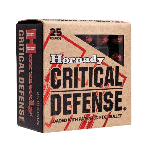Hornady 90250 Critical Defense 9mm Luger 115 GR Flex Tip Expanding 25 Bx/ 10 Cs