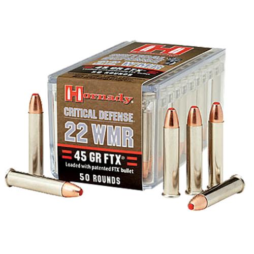 Hornady 83200 Critical Defense Flex Tip Expanding 22Win Mag 45GR 50 Box/40 Case