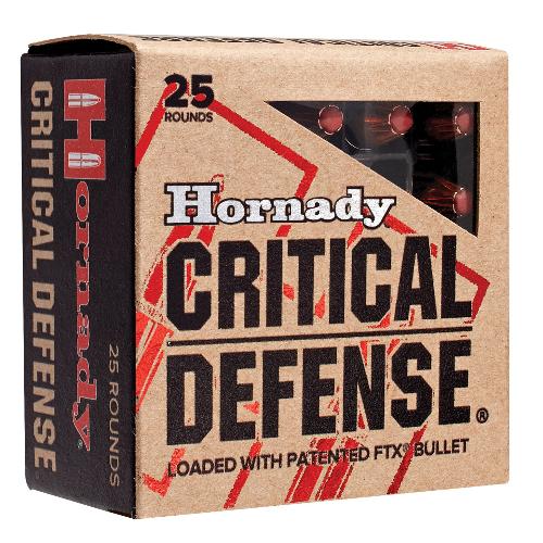 Hornady 90080 Critical Defense 380 Automatic Colt Pistol (ACP) 90 GR Flex Tip Expanding 25 Bx/ 10 Cs