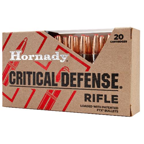 Hornady 80270 Critical Defense FTX 223 Remington 55 GR Flex Tip Expanding 20 Bx/ 10 Cs