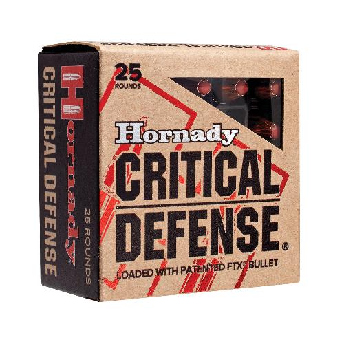 Hornady 90310 Critical Defense 38 Special 110 GR Flex Tip Expanding 25 Bx/ 10 Cs