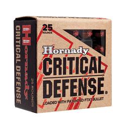 Hornady 90500 Critical Defense 357 Magnum 125 GR Flex Tip Expanding 25 Bx/ 10 Cs