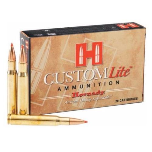 Hornady 80596 Custom Lite 7mm Remington Magnum 139 GR SST 20 Bx/ 10 Cs
