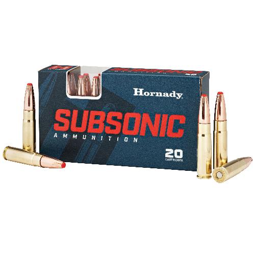 Hornady 80877 Subsonic 300 AAC Blackout/Whisper (7.62x35mm) 190 GR Sub-X 20 Bx/ 10 Cs