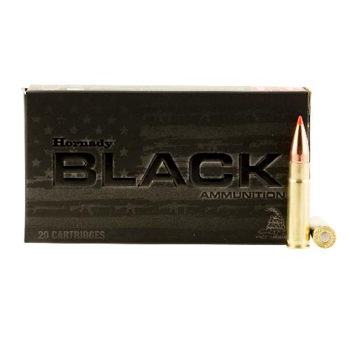 Hornady 80873 Black 300 AAC Blackout/Whisper (7.62x35mm) 110 GR V-Max 20 Bx/ 10 Cs